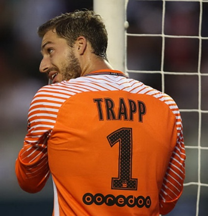 ORLANDO, FL - JULY 22: Kevin Trapp of Paris Saint-Germain during the International Champions Cup match between Paris Saint-Germain and Tottenham Hotspur on July 22, 2017 in Orlando, United States. (Photo by Robbie Jay Barratt - AMA/Getty Images)